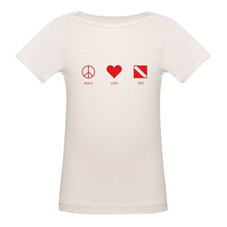 Peace Love Dive Organic Baby T-Shirt