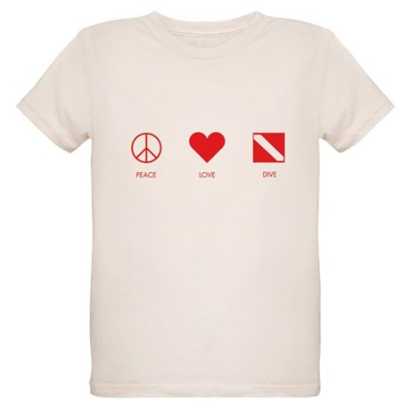 Peace Love Dive Organic Kids T-Shirt