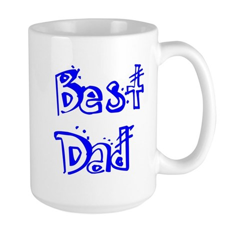 Father's Day Best Dad Large Mug