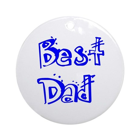 Father's Day Best Dad Ornament (Round)