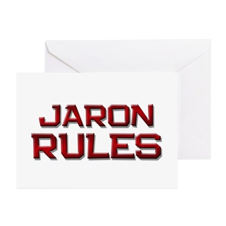 jaron rules Greeting Cards (Pk of 20)
