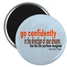 "Thoreau ""Go Confidently"" Magnet"