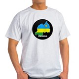 Flag Map of Rwanda T-Shirt