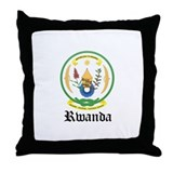 Rwandan Coat of Arms Seal Throw Pillow