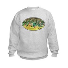 Brown Trout Fly Fishing Kids Sweatshirt