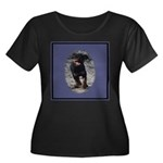 Romping Rottweiler Puppy Women's Plus Size Scoop N