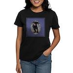 Romping Rottweiler Puppy Women's Dark T-Shirt