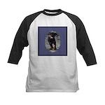 Romping Rottweiler Puppy Kids Baseball Jersey