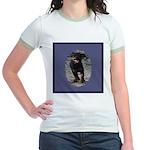 Romping Rottweiler Puppy Jr. Ringer T-Shirt