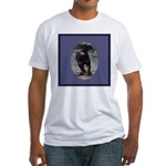 Romping Rottweiler Puppy Fitted T-Shirt