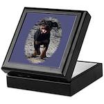Romping Rottweiler Puppy Keepsake Box