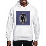 Romping Rottweiler Puppy Hooded Sweatshirt