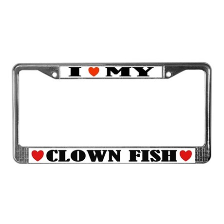I Heart My Clown Fish License Plate Frame