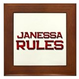 janessa rules Framed Tile