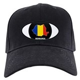 Flag Map of Romania Baseball Hat