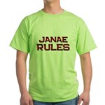 janae rules Green T-Shirt