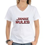 janae rules Women's V-Neck T-Shirt