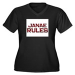 janae rules Women's Plus Size V-Neck Dark T-Shirt