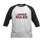 janae rules Kids Baseball Jersey