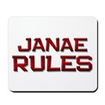 janae rules Mousepad