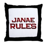 janae rules Throw Pillow
