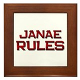 janae rules Framed Tile
