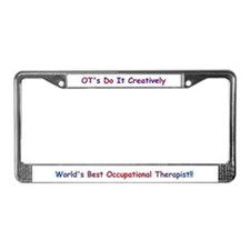 Occupational Therapy License Plate Frame
