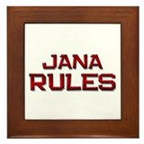 jana rules Framed Tile