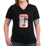 Cereal Killer Women's V-Neck Dark T-Shirt