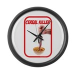 Cereal Killer Large Wall Clock