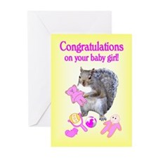 New Baby Girl Greeting Cards (Pk of 20)