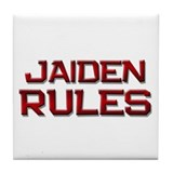 jaiden rules Tile Coaster