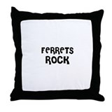 FERRETS ROCK Throw Pillow