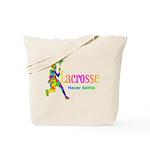 Lacrosse Never Settle Tote Bag
