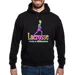 Lacrosse Goalie Make A Difference Hoodie (dark)