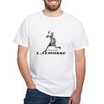 Lacrosse Play Hard White T-Shirt