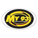 My 93.1 Oval Sticker