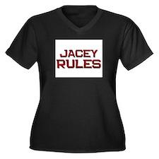 jacey rules Women's Plus Size V-Neck Dark T-Shirt