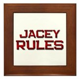 jacey rules Framed Tile