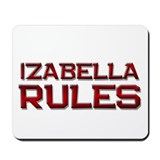 izabella rules Mousepad