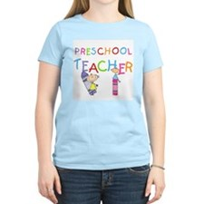 Crayons Preschool Teacher T-Shirt