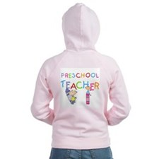 Crayons Preschool Teacher Zipped Hoodie
