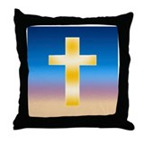 Christian Cross Throw Pillow
