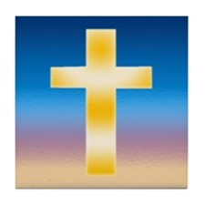 Christian Cross Tile Coaster