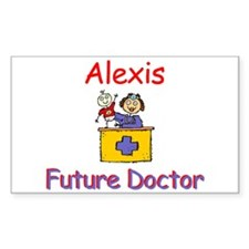 Alexis - Future Doctor Rectangle Decal