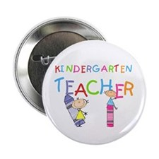 "Crayons Kindergarten Teacher 2.25"" Button (10 pack"