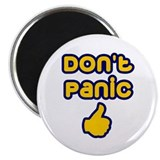 "Don't Panic 2.25"" Magnet (10 pack)"