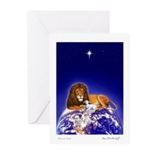 Lion & Lamb 'Peace' ~ Greeting Cards (10 Pk) BLANK