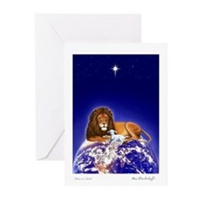 Lion & Lamb ~ 'Season's Greeting' Cards (10 Pk)