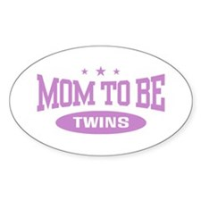 Mom To Be Twins Oval Decal